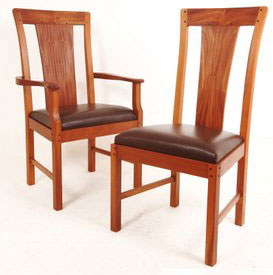 Mahogany Three Quarter Chair
